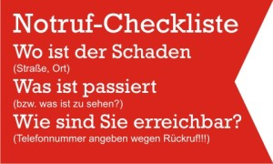 Checkliste: Notruf