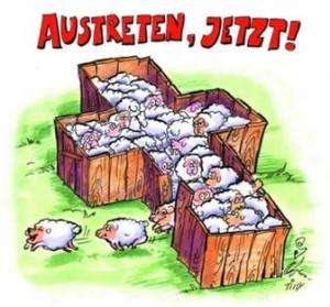 Kirchen-Austritt