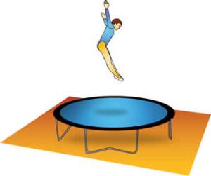 Gesund und fit mit Hüpfen auf dem Trampolin