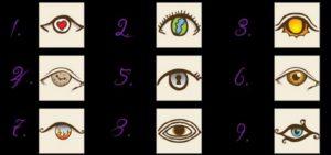 Wähle ein Auge und sieh was sich enthüllt