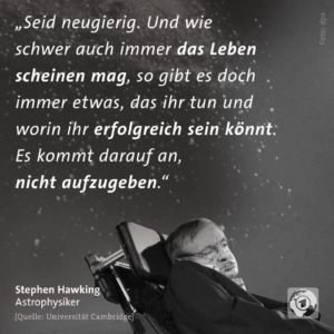 Stephen Hawking ist gestorben