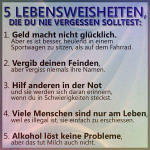 5 Lebensregeln